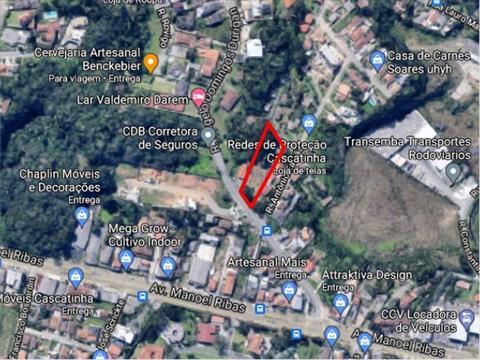 Terreno para venda no Cascatinha em Curitiba com 2,100m² por R$ 1.700.000,00