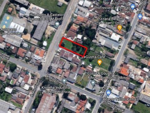 Terreno para venda no Planta Bairro Weisopolis em Pinhais com 1,200m² por R$ 1.100.000,00