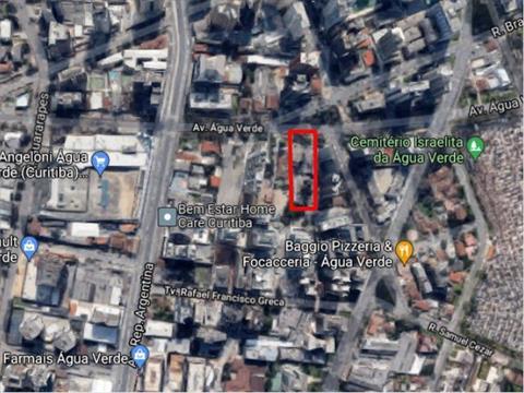 Terreno para venda no Agua Verde em Curitiba com 1,500m² por R$ 7.500.000,00