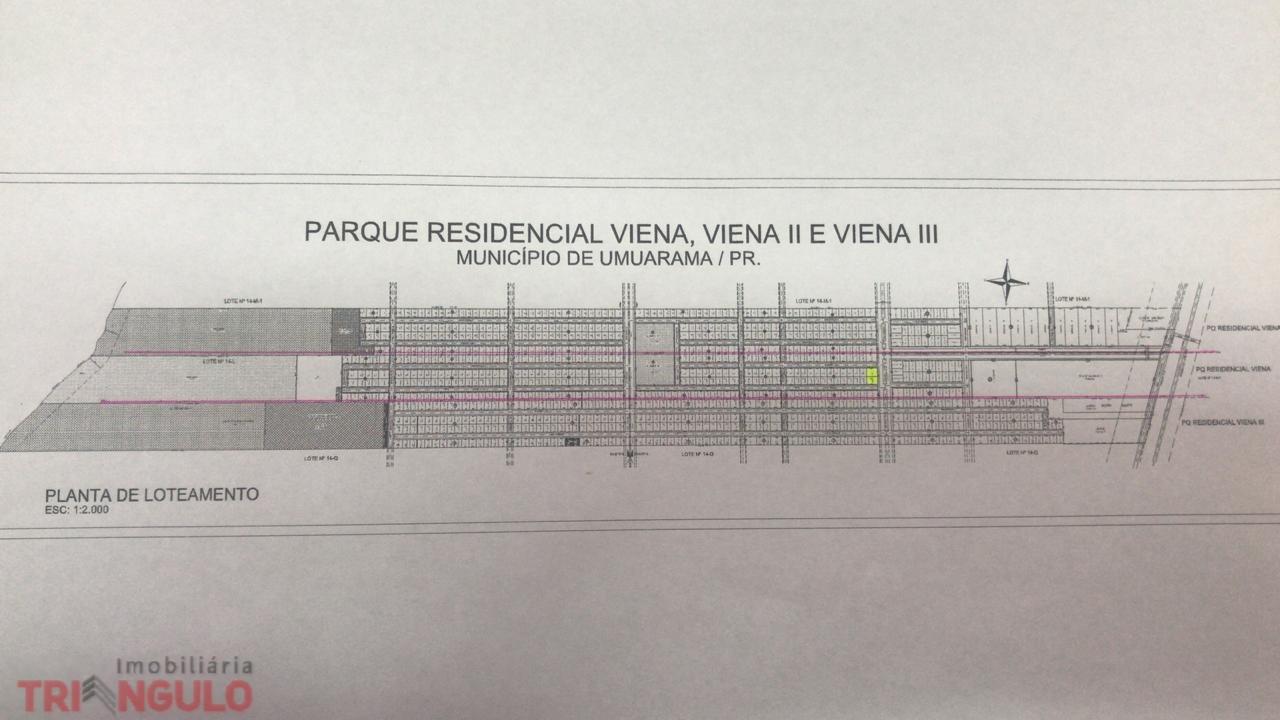 Terreno para locacao no Parque Residencial Viena em Umuarama com 877m² por R$ 800