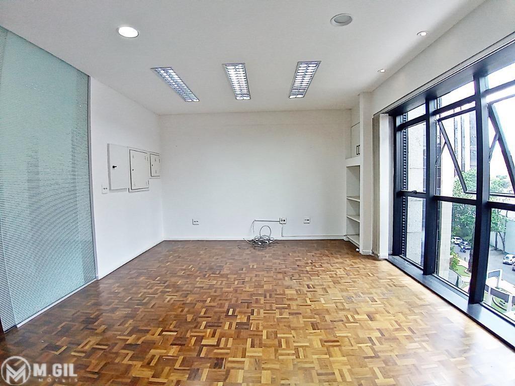 Sala Comercial para locacao no Centro Civico em Curitiba com 45m² por R$ 1.725,00